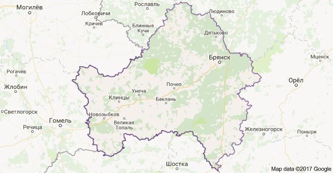 город Брянск и Брянская область