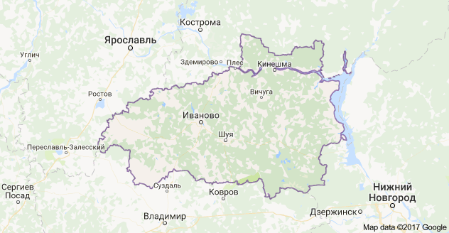 город Иваново и Ивановская область