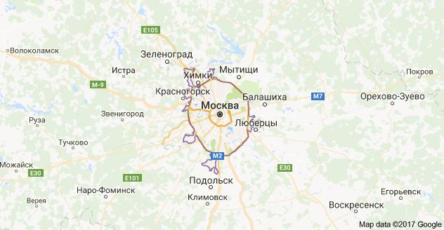 город Москва и Новая Москва