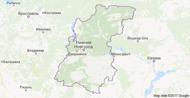 город Нижний Новгород и Нижегородская область