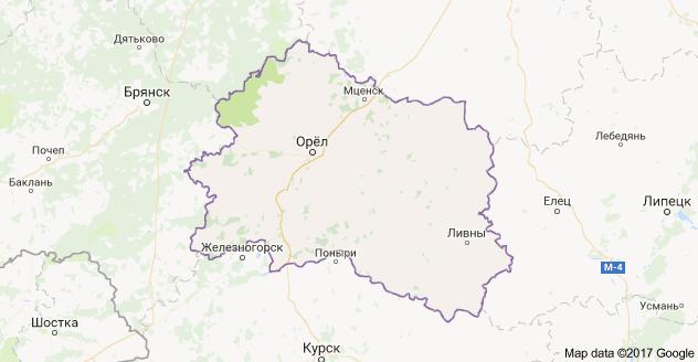 город Орел и Орловская область