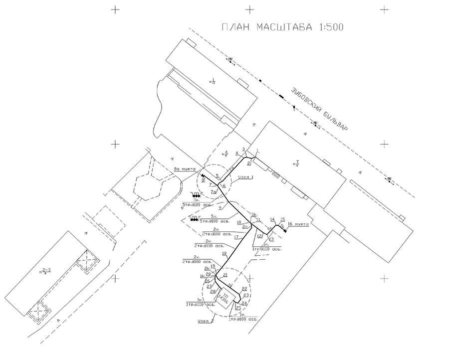 plan elektricheskogo kabelya 1 k 500