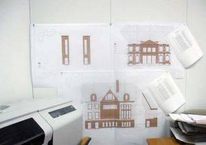 Геодезические чертежи фасадов сооружений