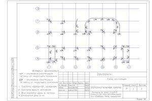 Исполнительная схема стен, балок, плит