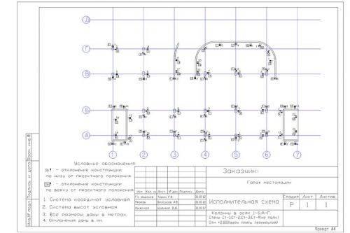Контрольный схематический чертеж
