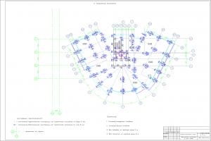 Исполнительная геодезическая схема вертикальных конструкций