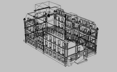Трехмерные чертежи здания в центре Москвы
