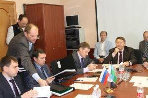 Выступление о топографической съемке на переговорах в Тюменской области