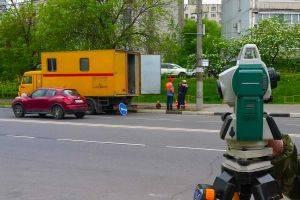Топографическая съемка дороги