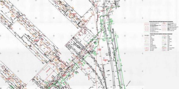 Топографический план для разработки проекта и проектных работ