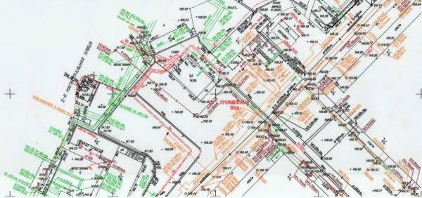 Топоплан местности в масштабе необходимом для подготовки строительных работ