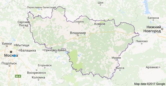 город Владимир и Владимирская область