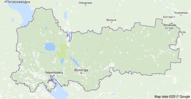 город Вологда и Вологодская область